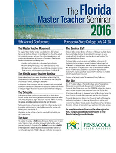 Florida Master Teacher 2015 Brochure
