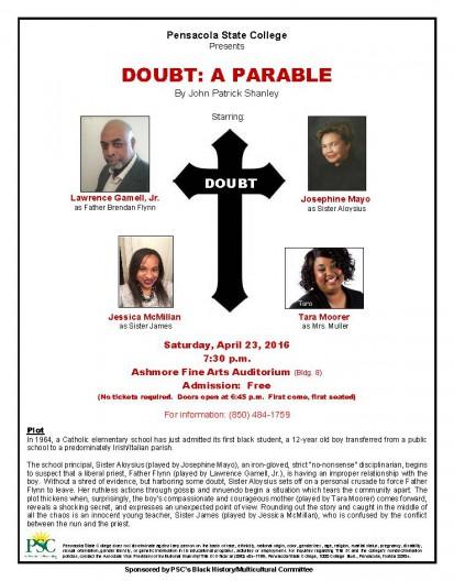 0422 Doubt A Parable flyer – April 2016 (3)