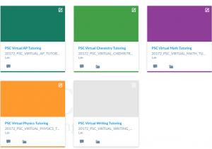Virtual tutoring example