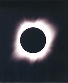 Dr. Wayne Wooten photographed this total solar eclipse in Mexico, July 11, 1991.