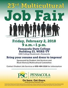 Multicultural Job Fair to be held at PSC Feb. 2 | Pensacola State ...