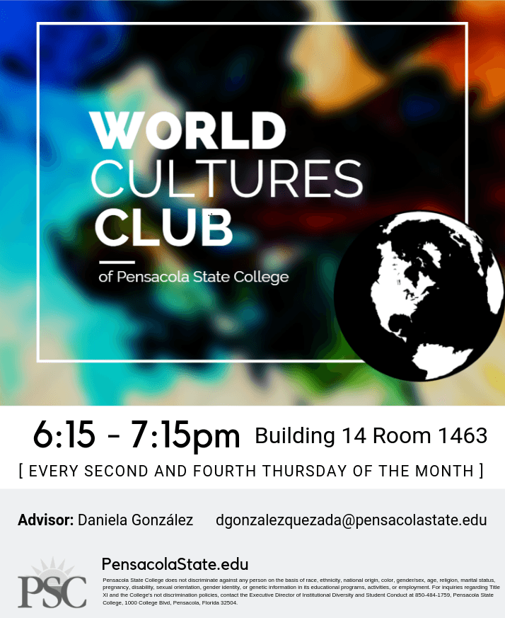 decorative image of WWC-Flyer , World Cultures Club 2019-03-12 11:33:52