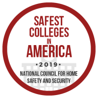 decorative image of SafestColleges2019_badge-1 , home 2019-04-18 09:03:09