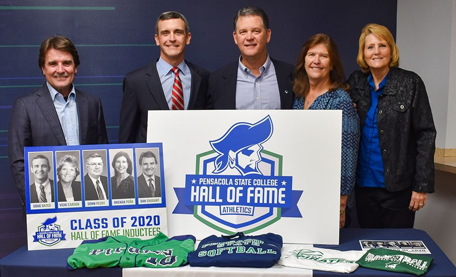 decorative image of HallOfFame2020-PressCon_900 , Five honorees to be inducted into PSC's 2020 Athletics Hall of Fame 2019-12-05 08:46:20