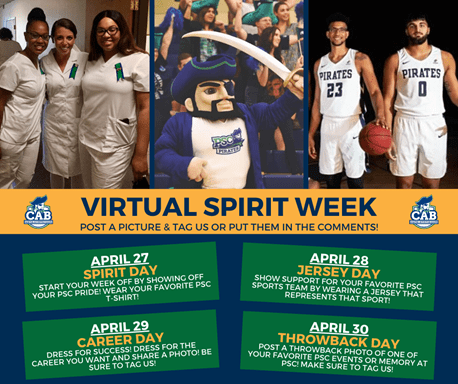 decorative image of virtualspiritday , Virtual trips, online fun-and-games help keep PSC students in touch during shutdown 2020-04-24 13:35:55