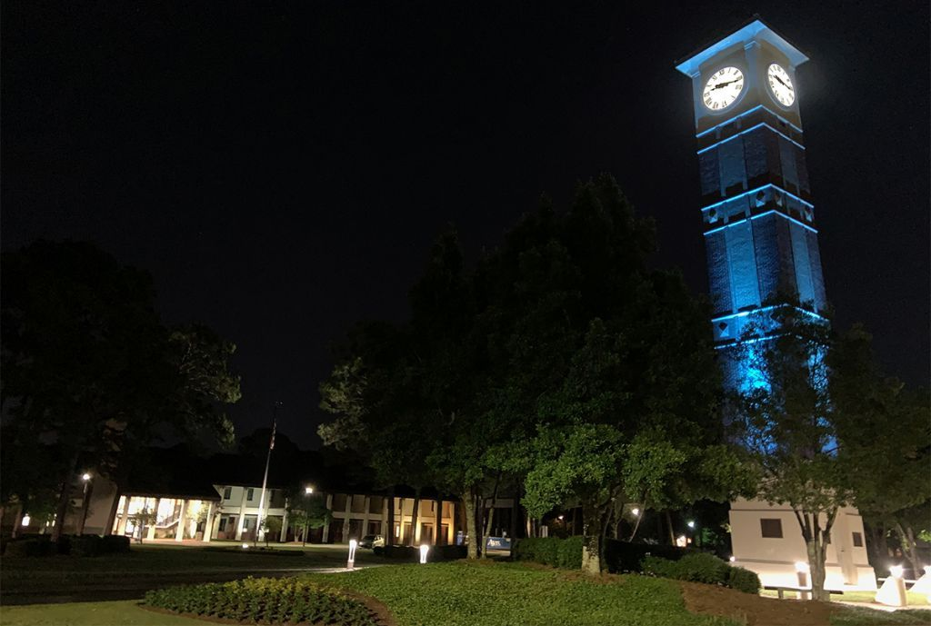decorative image of clocktowerblue , PSC honors frontline heroes during COVID-19 crisis with Menge Tower tribute 2020-05-11 09:36:38