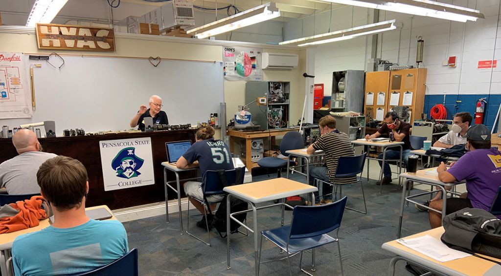 decorative image of glengormanteaching , HVAC instructor retiring after bringing decades of experience to PSC classrooms 2020-11-19 13:38:50