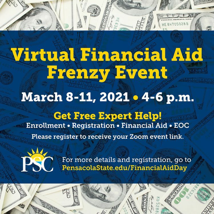 decorative image of Instagram-FinancialAidFrenzy-1080×1080 , It's a Financial Aid Frenzy at Pensacola State College 2021-03-05 08:00:50