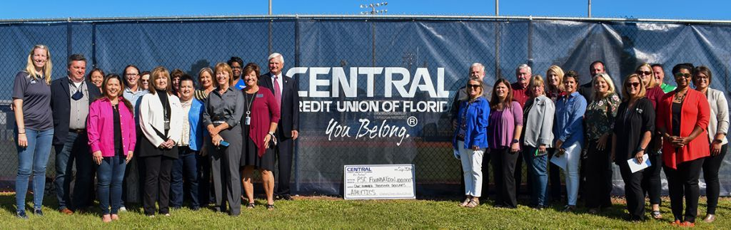 decorative image of CCUF2 , Central Credit Union of Florida pledges $100,000 to PSC Athletic Department 2021-09-27 15:04:54